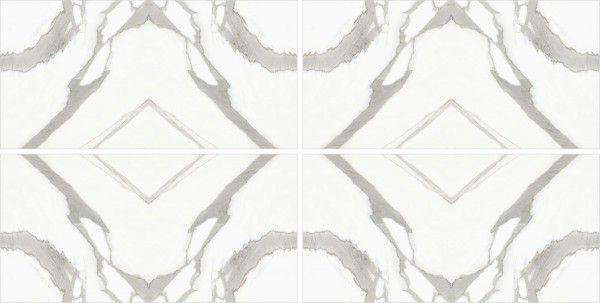 - 600 x 1200 mm (24 x 48 polegadas) - Statuario infinity  AB