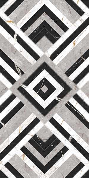 - 600 x 1200 mm ( 24 x 48 inch ) - nero-white-decor