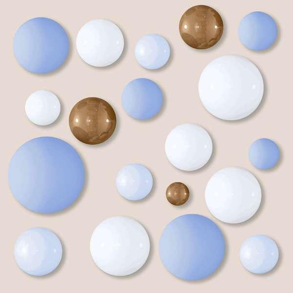 - 600 x 600 мм (24 x 24 дюйма) - BLUE BALLS