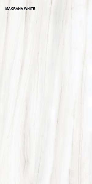 - 600 x 1200 mm (24 x 48 polegadas) - MAKRANA WHITE P1